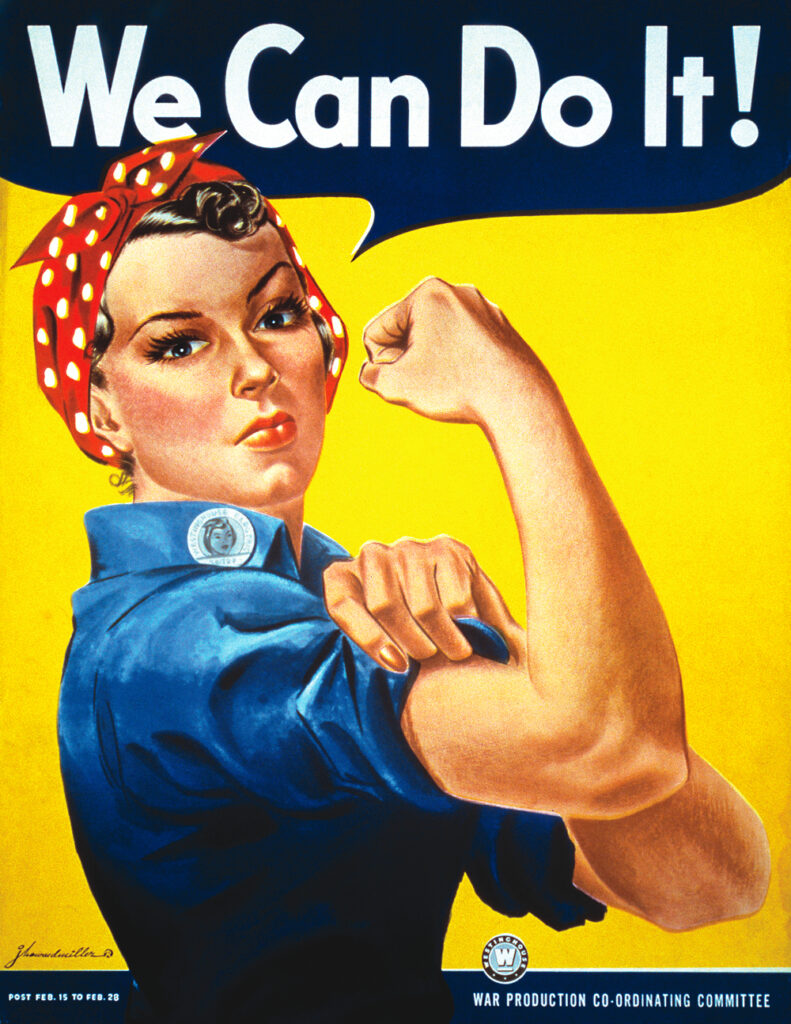"""Plakat """"We Can Do It"""" fot. Wikimedia Commons"""